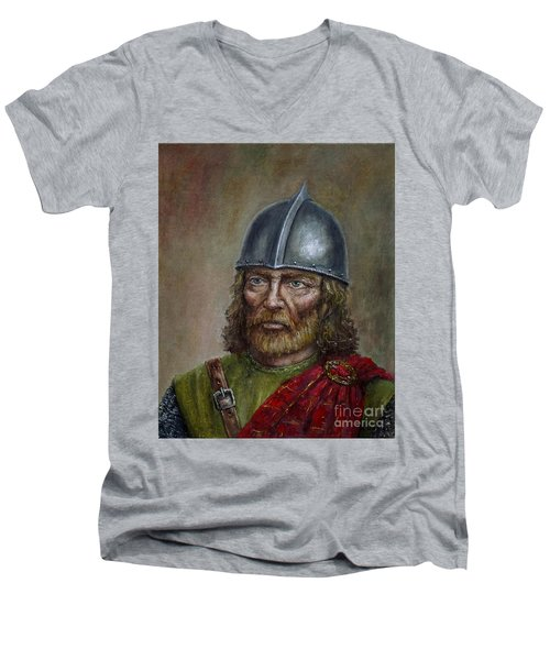 William Wallace Men's V-Neck T-Shirt by Arturas Slapsys