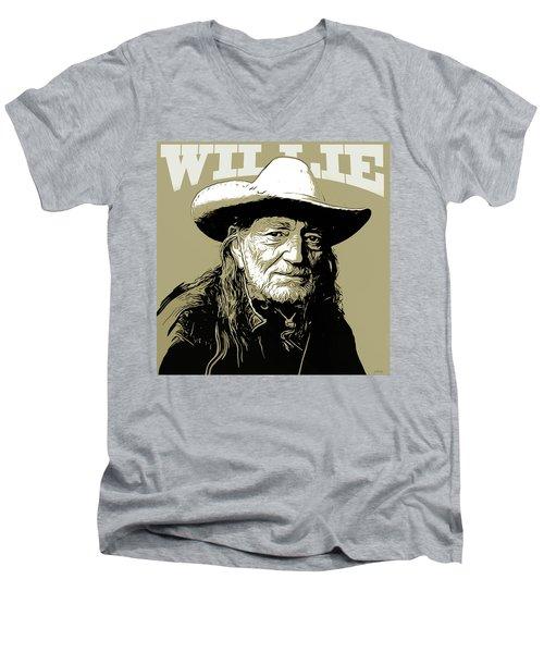 Willie Men's V-Neck T-Shirt