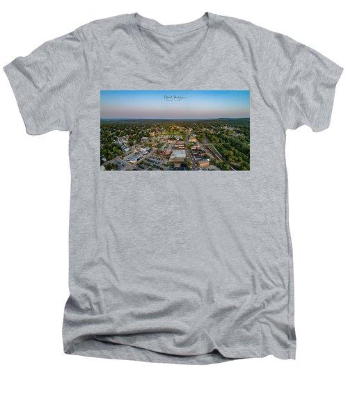 Willimantic Panorama Men's V-Neck T-Shirt
