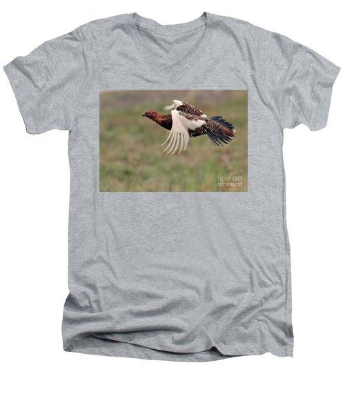 Willow Ptarmigan Flight Men's V-Neck T-Shirt