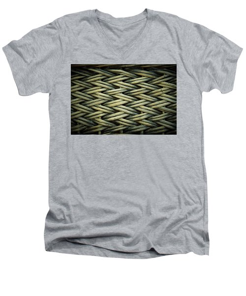 Men's V-Neck T-Shirt featuring the photograph Willow Weave by Les Cunliffe