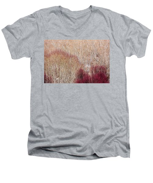 Willows In Winter Men's V-Neck T-Shirt