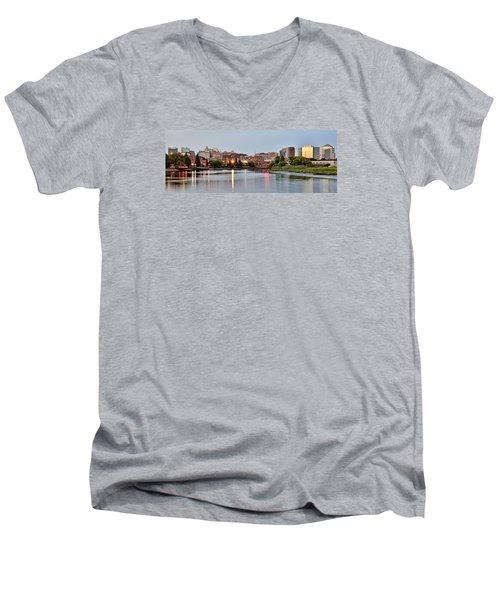 Wilmington Delaware At Dusk Men's V-Neck T-Shirt by Brendan Reals