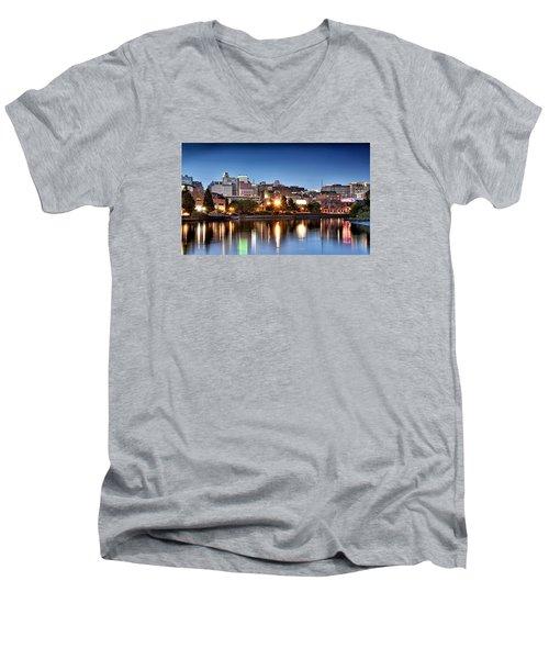 Wilmington Delaware Men's V-Neck T-Shirt by Brendan Reals