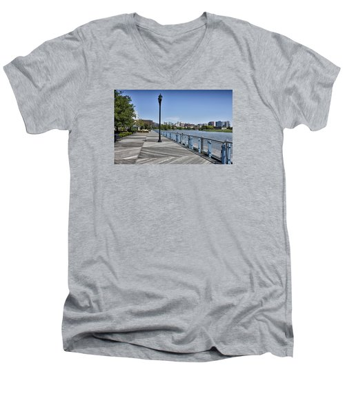Wilmington Riverwalk - Delaware Men's V-Neck T-Shirt