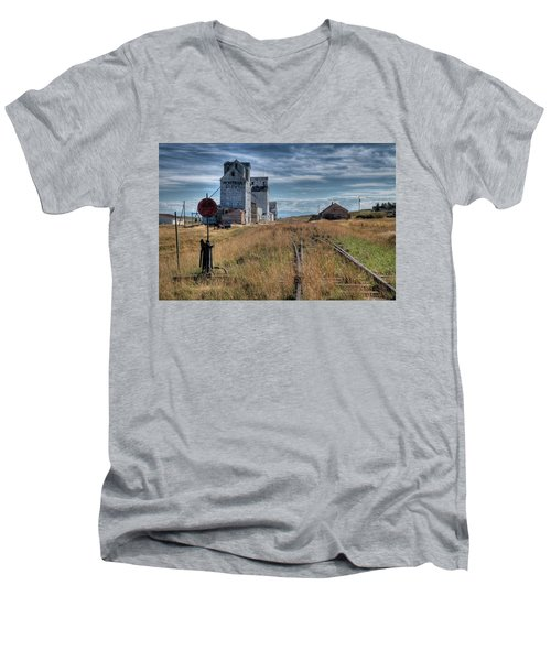 Wilsall Grain Elevators Men's V-Neck T-Shirt