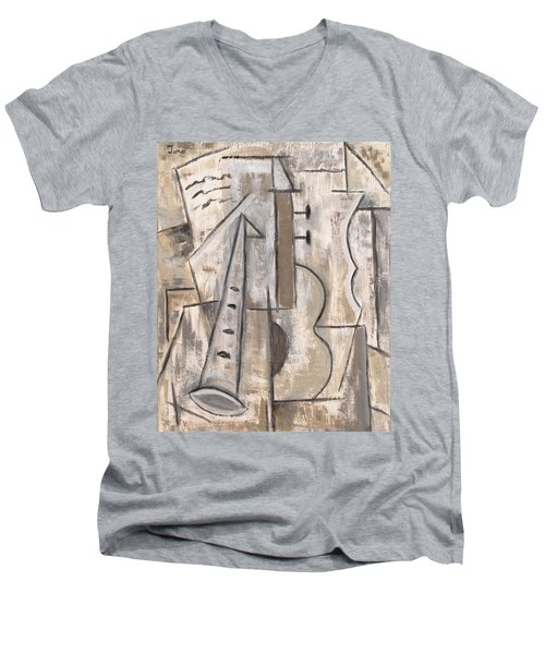 Wind And Strings Men's V-Neck T-Shirt by Trish Toro