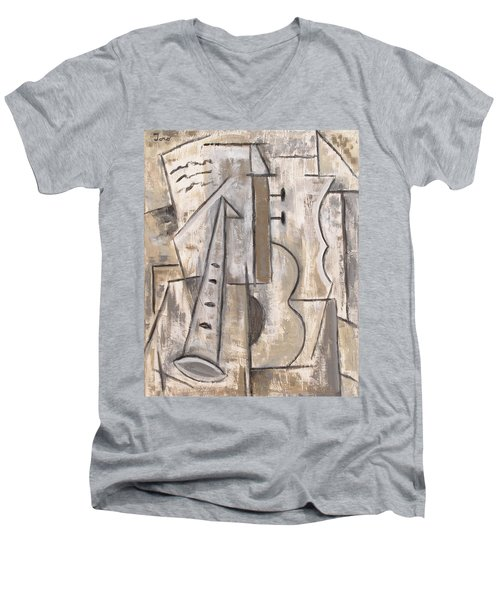Wind And Strings Men's V-Neck T-Shirt