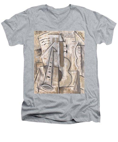 Wind And Strings Men's V-Neck T-Shirt