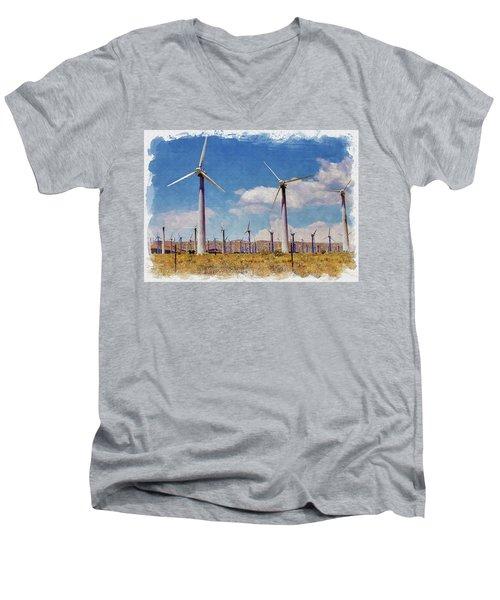 Wind Power Men's V-Neck T-Shirt