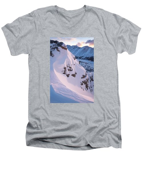 Wind-sculpted Sunset Men's V-Neck T-Shirt