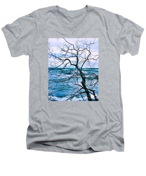 Wind Swept Men's V-Neck T-Shirt by Heather King