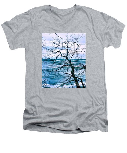 Wind Swept Men's V-Neck T-Shirt