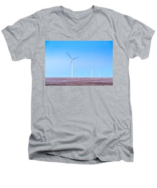Wind Turbines Men's V-Neck T-Shirt