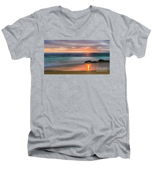 Windansea Beach At Sunset Men's V-Neck T-Shirt
