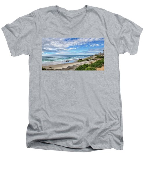 Men's V-Neck T-Shirt featuring the photograph Windansea Wonderful by Peter Tellone