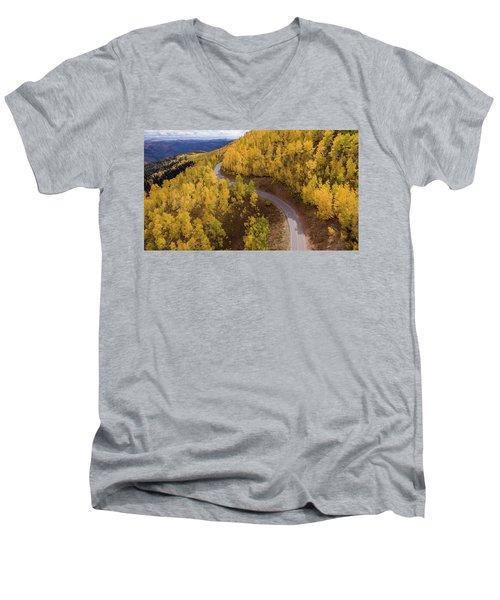 Winding Through Fall Men's V-Neck T-Shirt
