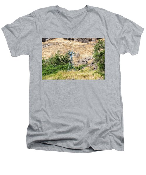Windmill Aerator For Ponds And Lakes Men's V-Neck T-Shirt