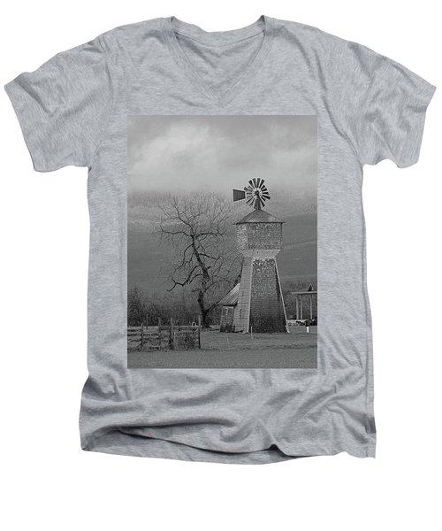 Windmill Of Old Men's V-Neck T-Shirt by Suzy Piatt