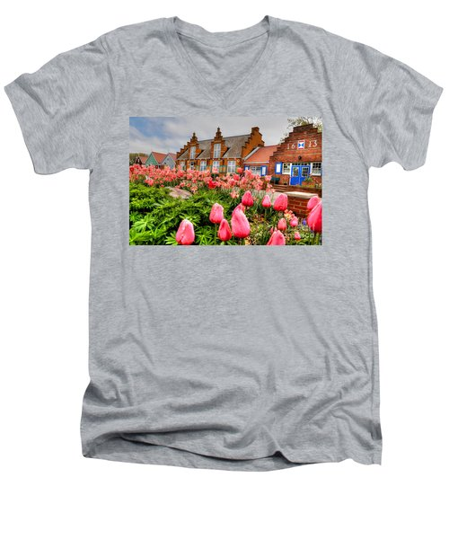 Men's V-Neck T-Shirt featuring the photograph Windmill Villa by Robert Pearson