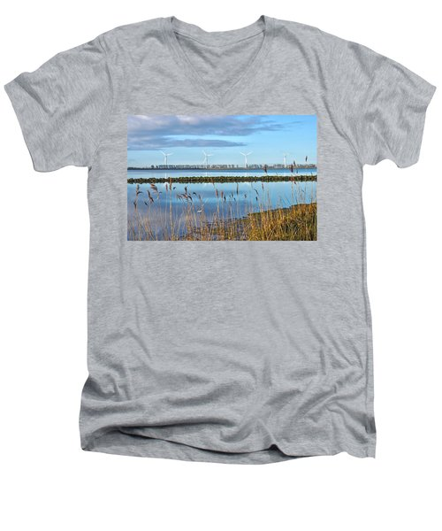 Windmills On A Windless Morning Men's V-Neck T-Shirt