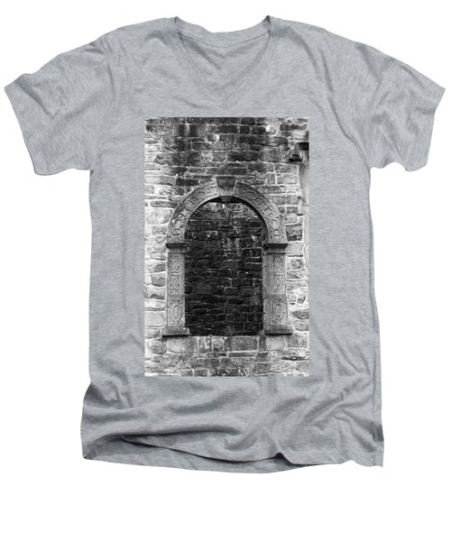 Window At Donegal Castle Ireland Men's V-Neck T-Shirt