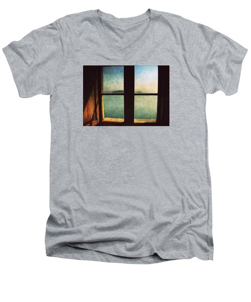 Window Overlooking The Sea Men's V-Neck T-Shirt