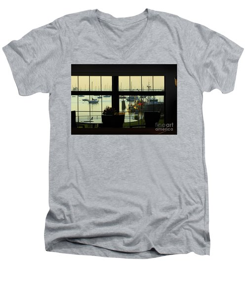 Window Painting Men's V-Neck T-Shirt
