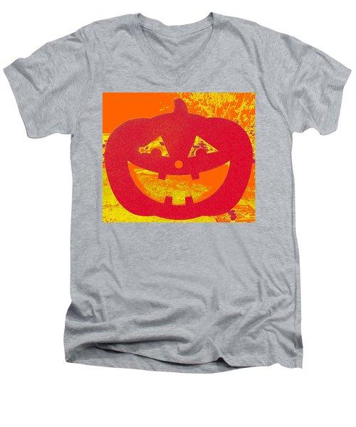 Window Pumpkin #4 Men's V-Neck T-Shirt