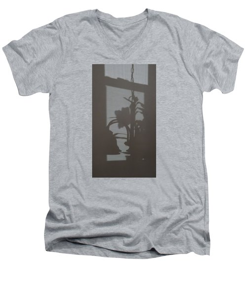 Men's V-Neck T-Shirt featuring the photograph Window Shadows 1 by Don Koester