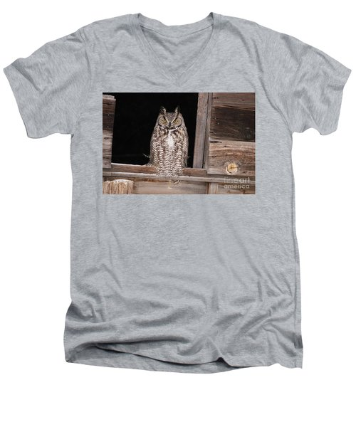 Window Sitting Men's V-Neck T-Shirt
