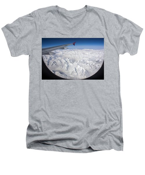 Window To Himalaya Men's V-Neck T-Shirt by Hitendra SINKAR