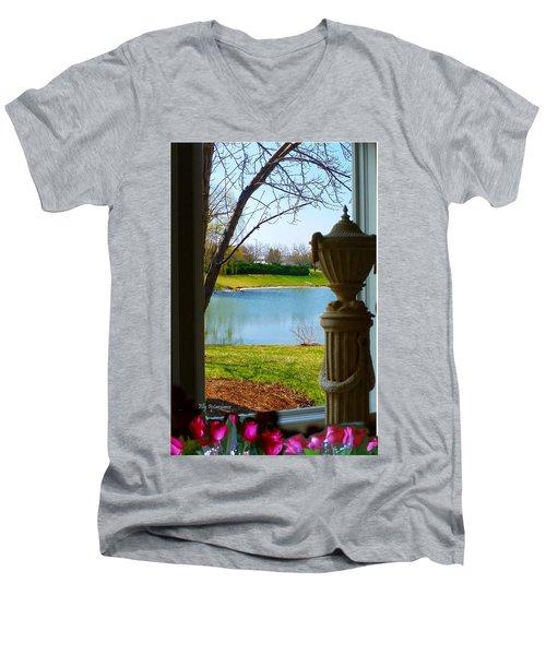 Window View Pond Men's V-Neck T-Shirt