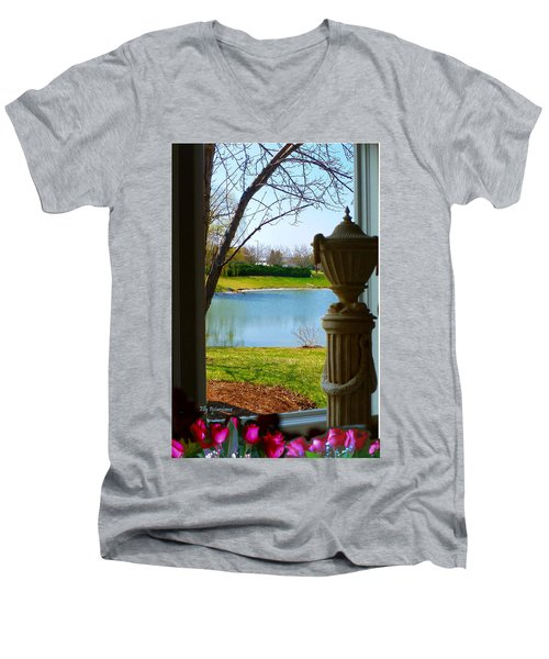 Window View Pond Men's V-Neck T-Shirt
