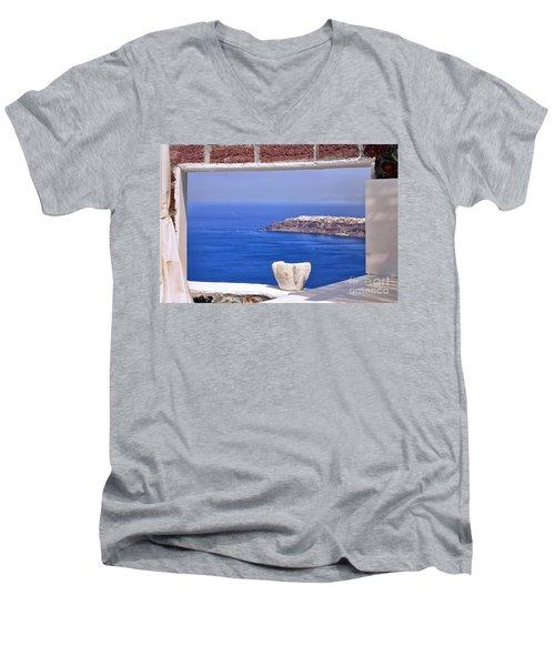 Window View To The Mediterranean Men's V-Neck T-Shirt