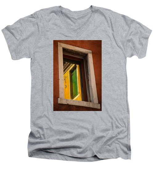 Men's V-Neck T-Shirt featuring the photograph Window Window by Kathleen Scanlan