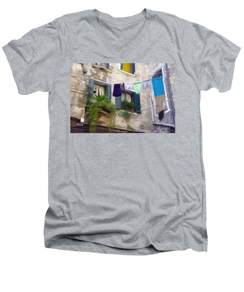 Windows Of Venice Men's V-Neck T-Shirt