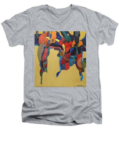 Men's V-Neck T-Shirt featuring the painting Windsong by Bernard Goodman