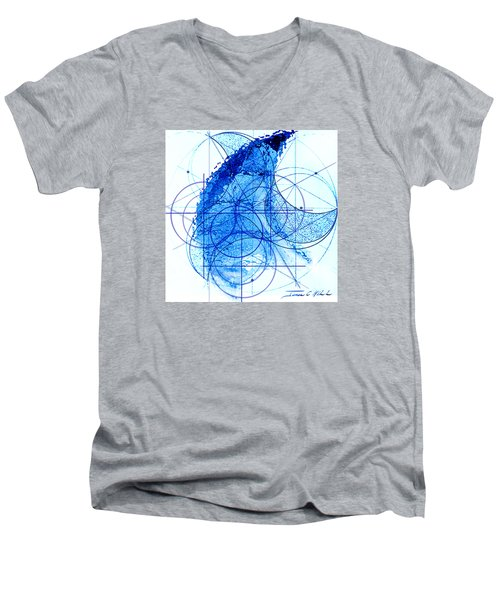 Men's V-Neck T-Shirt featuring the painting Windstorm by James Christopher Hill