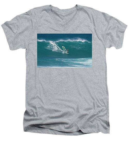 Windsurfer At Hookipa, Maui Men's V-Neck T-Shirt