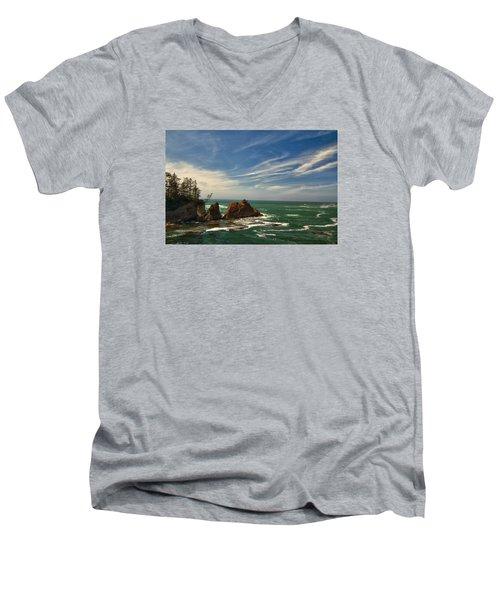 Windswept Day Men's V-Neck T-Shirt by Tom Kelly