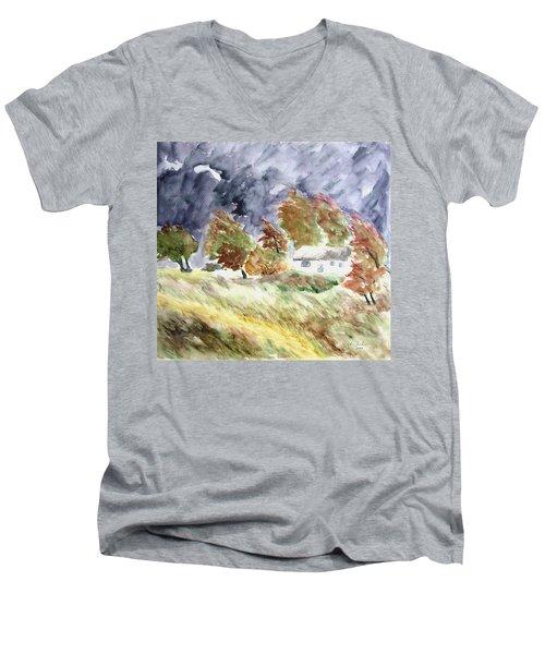 Windswept Landscape Men's V-Neck T-Shirt