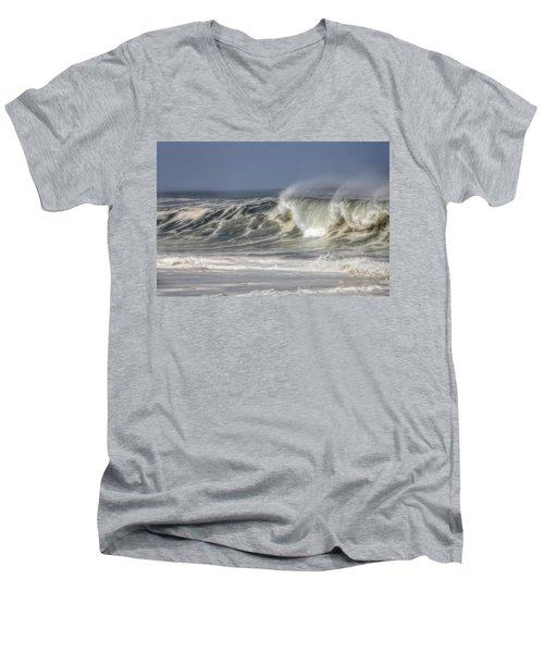 Windswept Men's V-Neck T-Shirt by Mark Alder