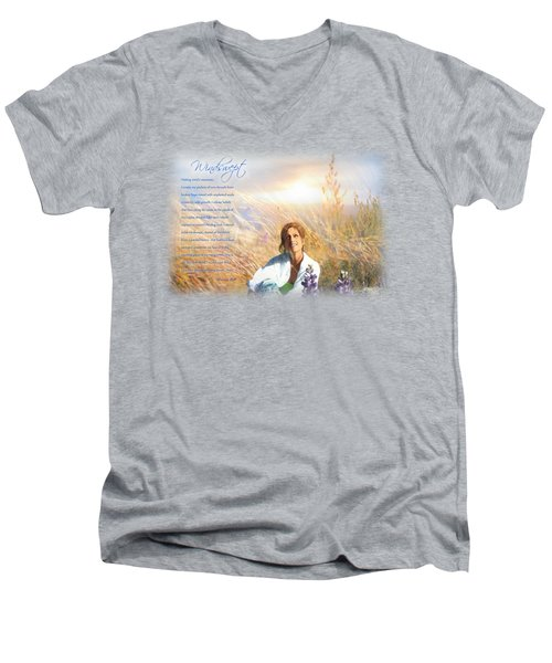 Windswept Poem Men's V-Neck T-Shirt