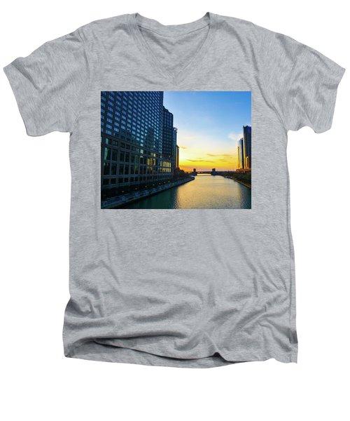 Windy City Sunrise Men's V-Neck T-Shirt