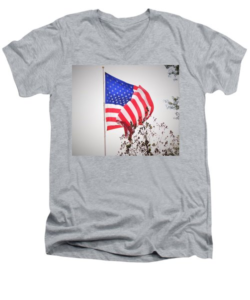 Long May It Wave Men's V-Neck T-Shirt