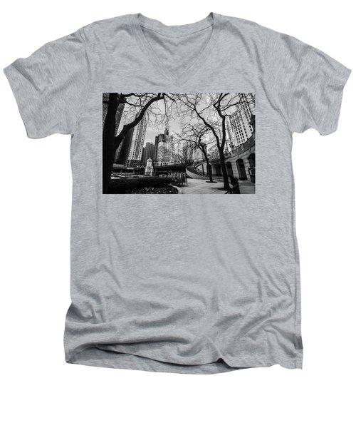 Windy Mornings In The Chi  Men's V-Neck T-Shirt