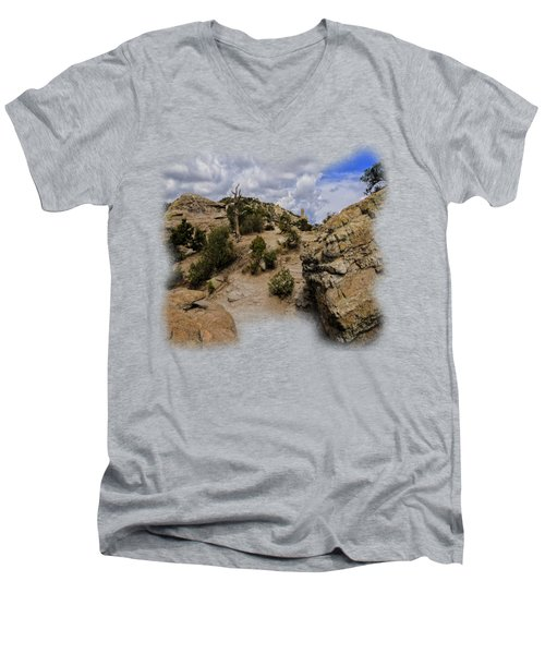 Windy Point No.13 Men's V-Neck T-Shirt by Mark Myhaver