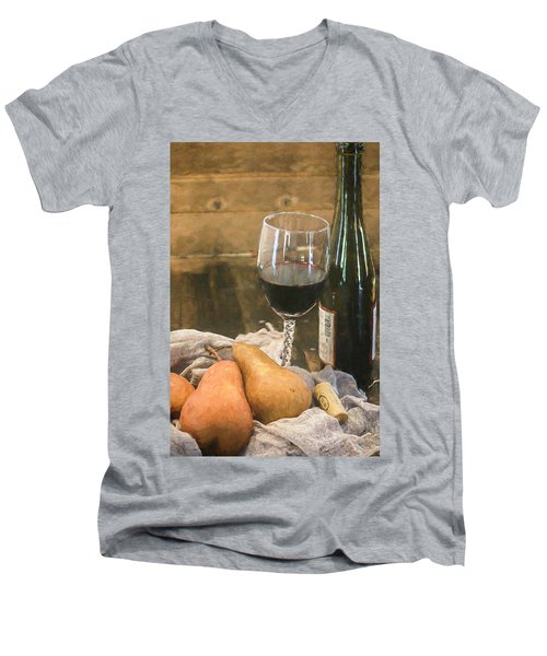 Wine And Pears Men's V-Neck T-Shirt