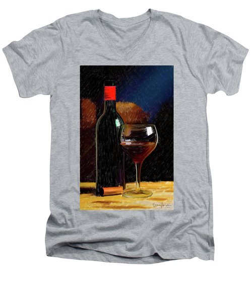 Wine Cellar 01 Men's V-Neck T-Shirt by Wally Hampton